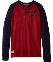 Tommy Hilfiger Kids - Marled Long Sleeve Henley Tee (Big Kids)