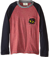 Fendi Kids - Long Sleeve Shirt with Stripe Detail (Little Kids)