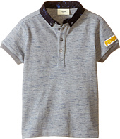 Fendi Kids - Short Sleeve Polo Shirt w/ Dots On Collar (Toddler)