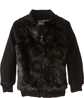 Vince Kids - Fur Bomber Jacket (Toddler/Little Kids)