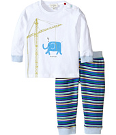 Paul Smith Junior - Pyjamas Set w/ White T-Shirt and Stripped Leggings (Infant/Toddler)