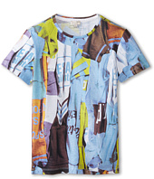 Paul Smith Junior - Short Sleeve All Over Multicolor Folded T-Shirt Print T-Shirt (Big Kids)