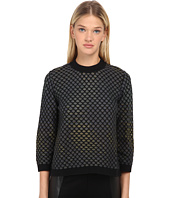 M Missoni - Large Pique Knit Long Sleeve Top