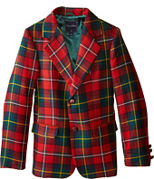 Oscar de la Renta Childrenswear - Elbow Patch Plaid Blazer (Toddler/Little Kids/Big Kids)