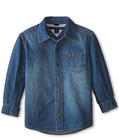 Tommy Hilfiger Kids - Long Sleeve Woven Max Denim Shirt (Toddler/Little Kids)