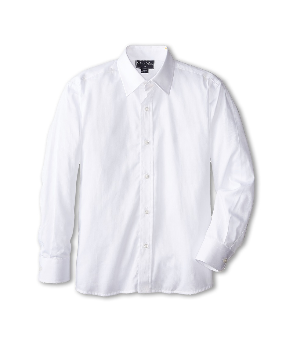Oscar de la Renta Childrenswear Cotton Long Sleeve Dress Shirt Toddler/Little Kids/Big Kids Optic White Boys Long Sleeve Button Up