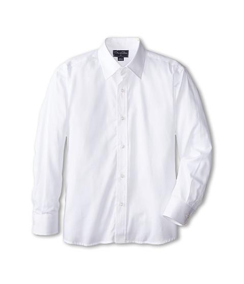 Oscar de la Renta Childrenswear Cotton Long Sleeve Dress Shirt (Toddler/Little Kids/Big Kids)