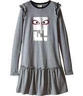 Fendi Kids - Logo Dress w/ Eye (Big Kids)