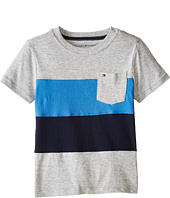 Tommy Hilfiger Kids - Pieced Bold Stripe Tee (Toddler/Little Kids)