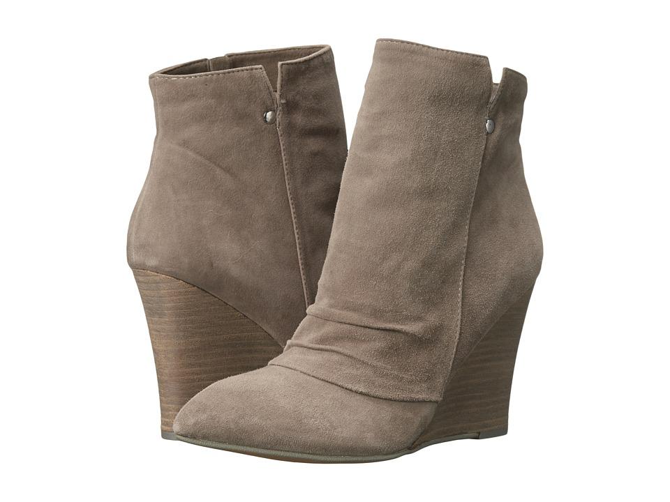 Kristin Cavallari Candyce Wedge Bootie Grey Kid Suede Womens Boots