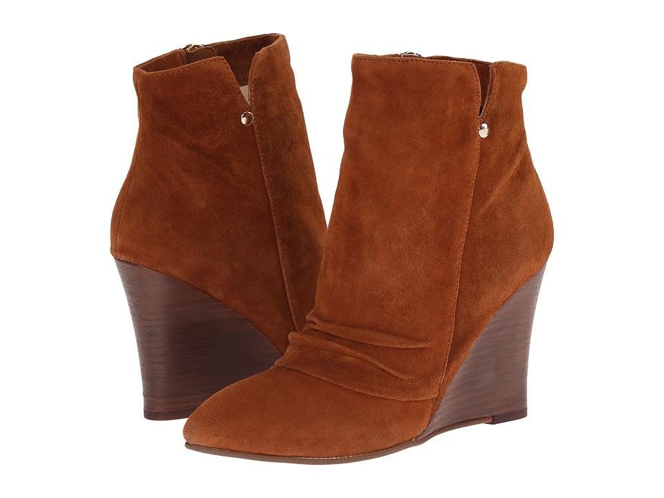 Kristin Cavallari Candyce Wedge Bootie Ginger Kid Suede Womens Boots