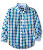Tommy Hilfiger Kids - Long Sleeve Woven Jameson Plaid (Toddler/Little Kids)