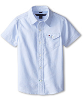 Tommy Hilfiger Kids - Short Sleeve Solid Oxford Shirt (Toddler/Little Kids)