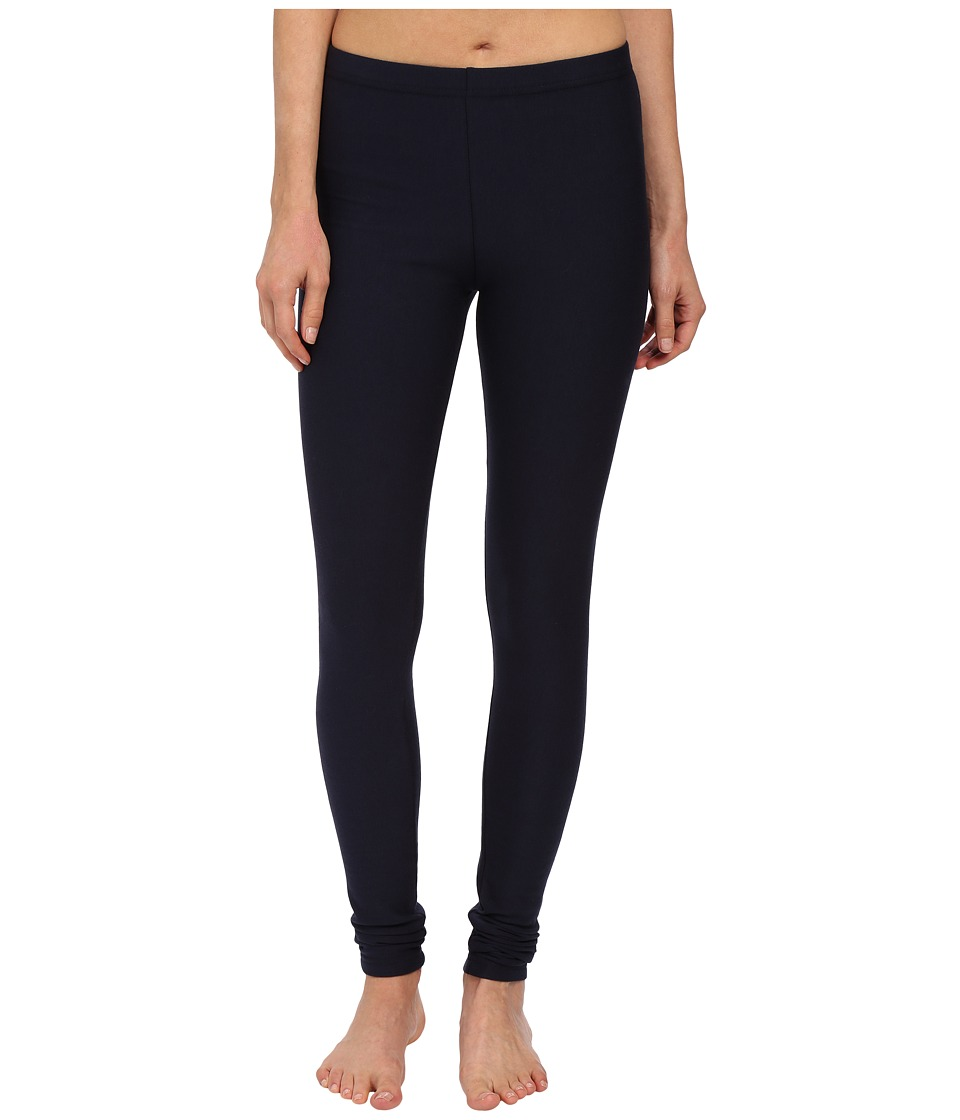 Plush - Fleece-Lined Cotton Legging (Navy) Women's Casual...