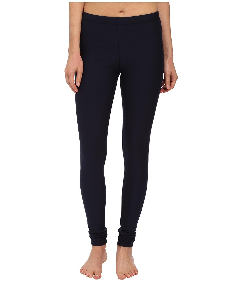 Plush Fleece Lined Cotton Legging Navy Womens Casual Pants