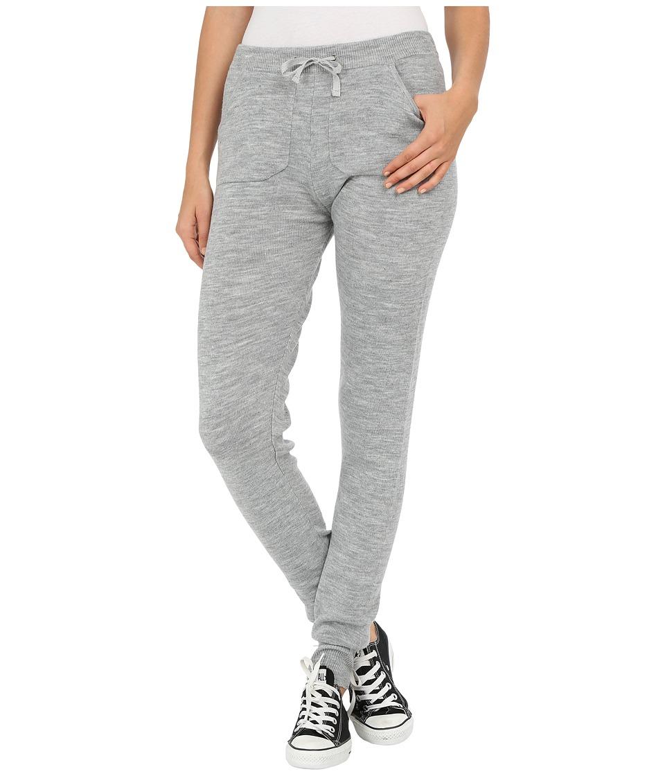 Plush Knit Sweater Leggings Heather Grey Womens Clothing