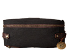 Will Leather Goods Desmond Travel Kit Canvas/Leather (Black/Brown)