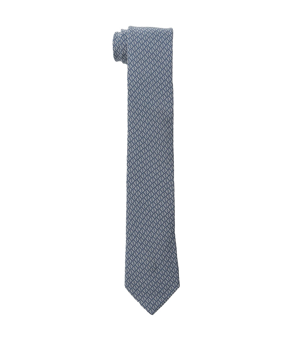 Fendi Kids Two Tone All Over Print Tie Blue Ties