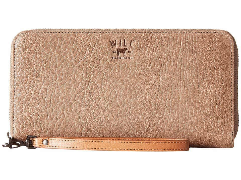 Will Leather Goods - Imogene Checkbook (Stone) Checkbook Wallet