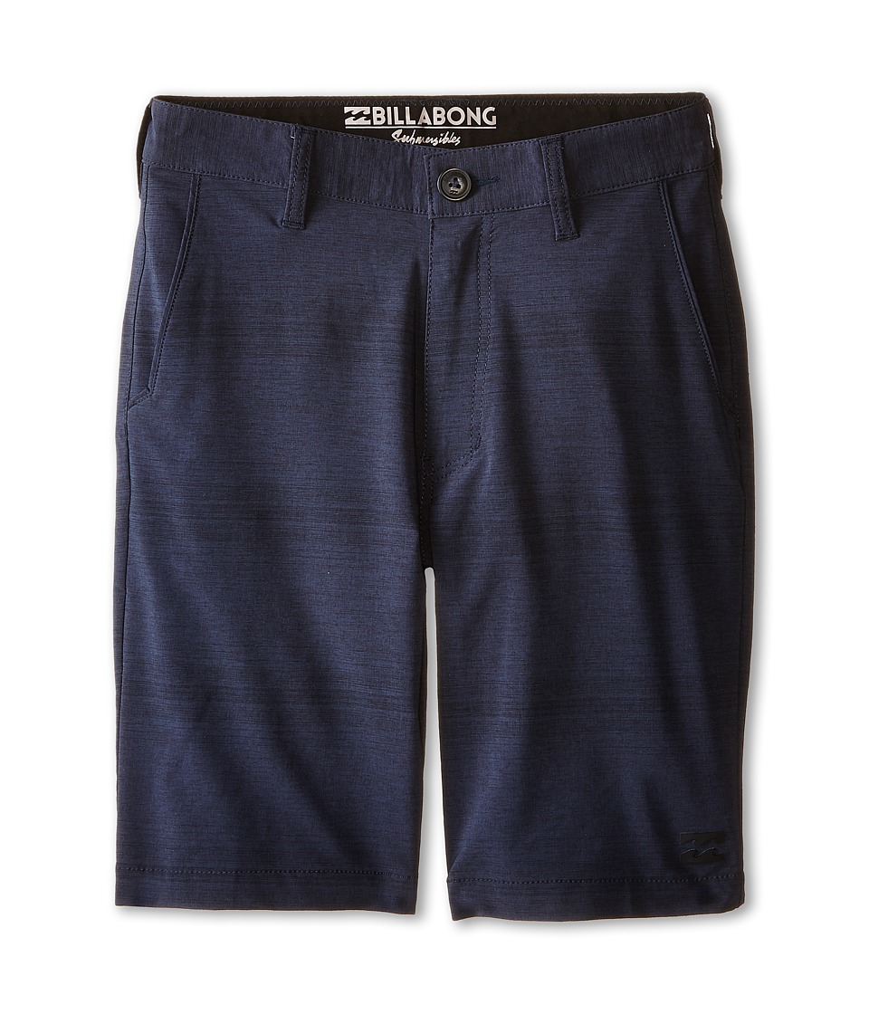 Billabong Kids Crossfire X Stripe Walkshorts Big Kids Indigo Boys Shorts