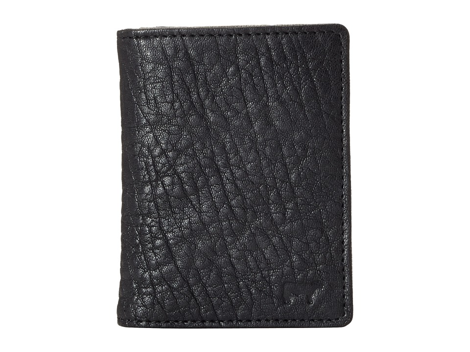 Will Leather Goods - Flip Front Pocket (Black/Grey) Wallet