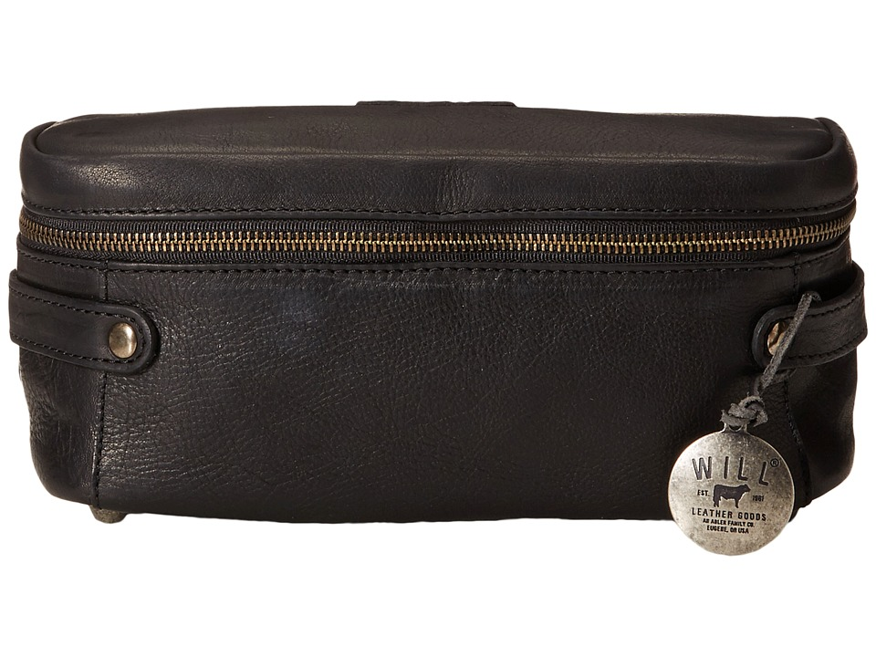 Will Leather Goods - Desmond Travel Kit All Leather (Black) Travel Pouch