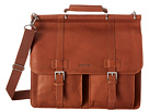 Kenneth Cole Reaction Mind Your Own Business Colombian Leather Flapover 15 Computer Portfolio