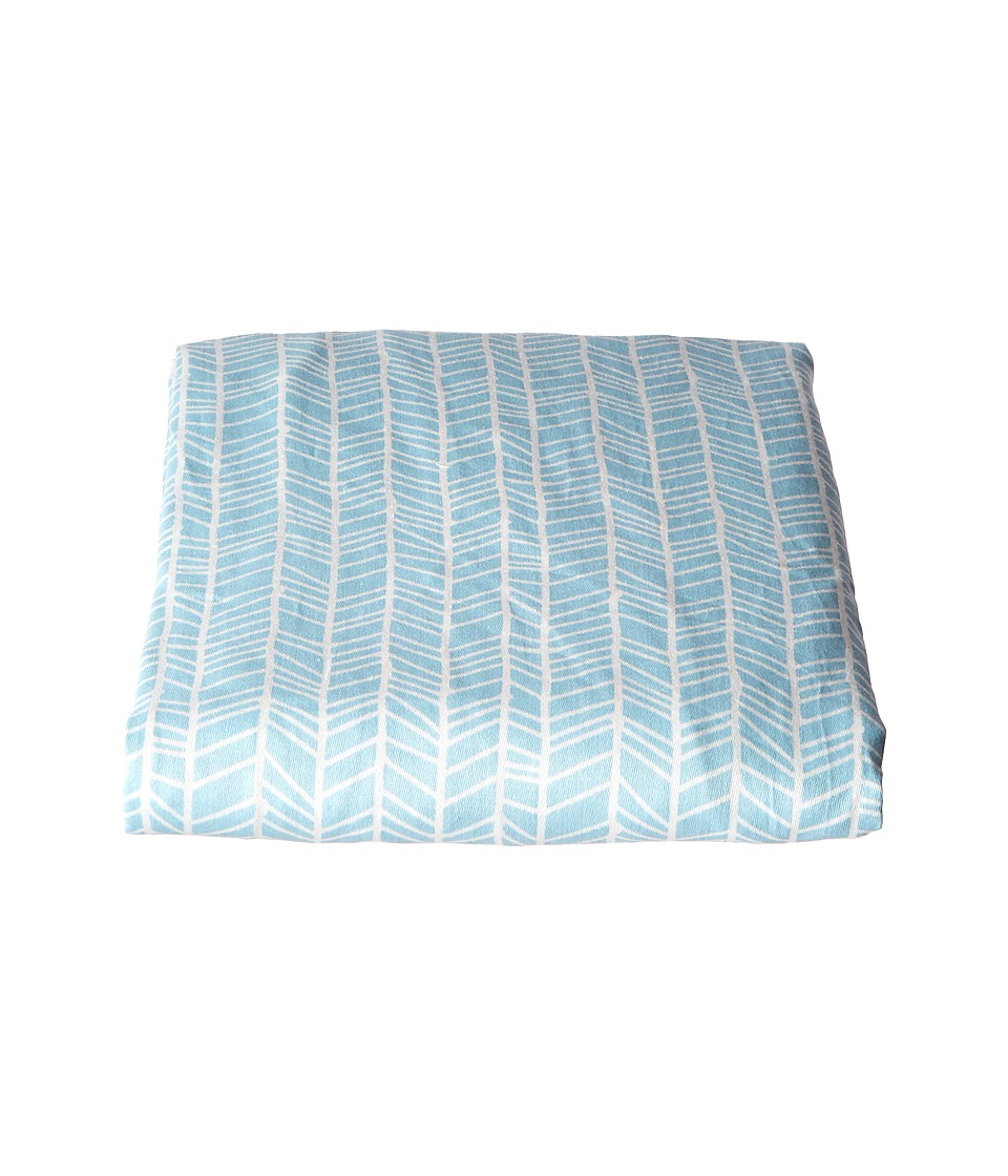 lolli LIVING Fitted Sheet Woods Collection Aqua Herringbone Sheets Bedding