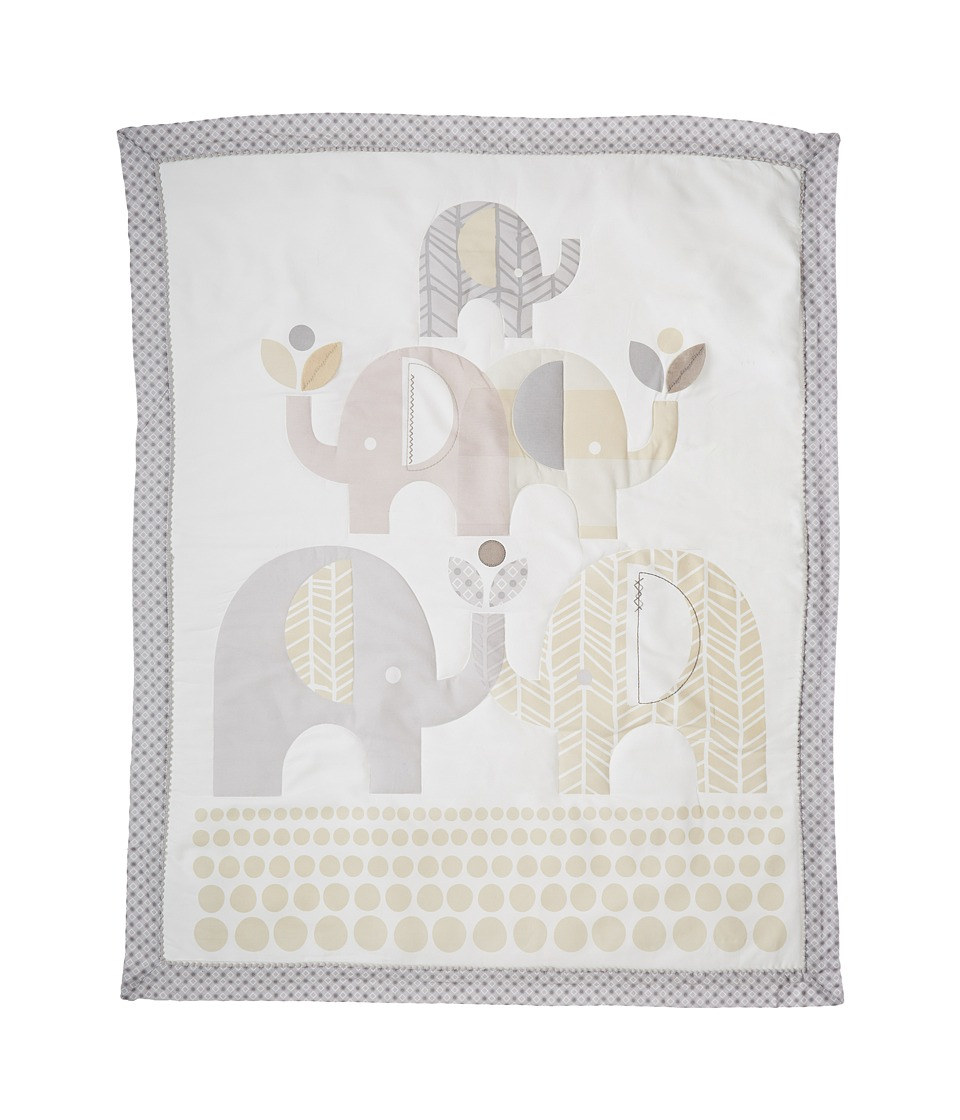lolli LIVING Baby Quilt Naturi Collection Elephant Grey Sheets Bedding