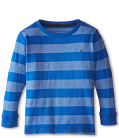 Tommy Hilfiger Kids - Jersey Stripe Long Sleeve Crew Tee (Toddler/Little Kids)