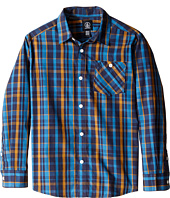 Volcom Kids - Everett Plaid Long Sleeve (Big Kids)