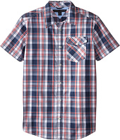 Tommy Hilfiger Kids - Short Sleeve Woven Kirk (Big Kids)