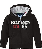 Tommy Hilfiger Kids - Long Sleeve Hilfiger Hoodie (Toddler/Little Kids)