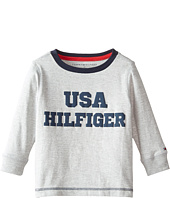 Tommy Hilfiger Kids - Long Sleeve USA Hilfiger Tee (Toddler/Little Kids)