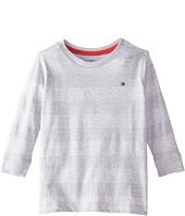 Tommy Hilfiger Kids - Jersey Stripe Long Sleeve Crew Tee (Toddler/Little Kids)