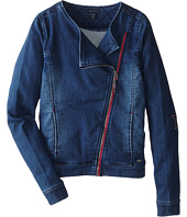 Tommy Hilfiger Kids - Knit Denim Moto Jacket (Big Kids)