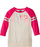 Tommy Hilfiger Kids - 3/4 Sleeve Embellished Active Top (Big Kids)