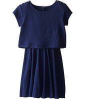 Tommy Hilfiger Kids - Quilted Crop Top Dress (Big Kids)