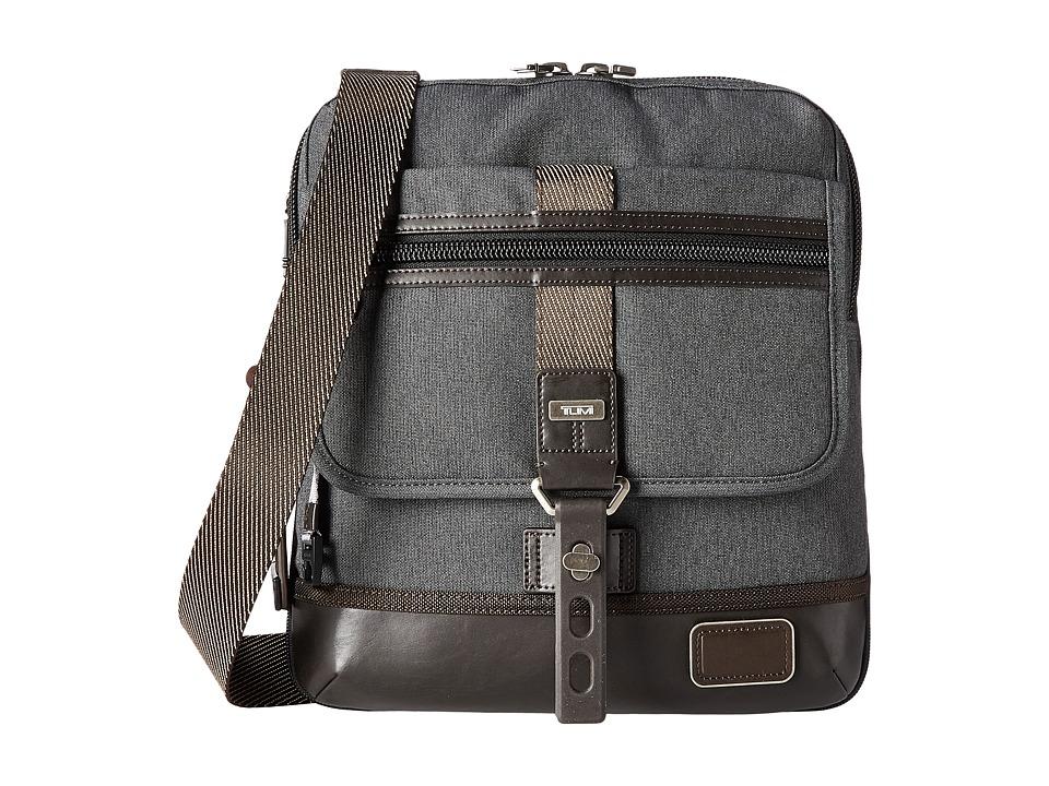 Tumi - Alpha Bravo - Annapolis Zip Flap (Anthracite) Messenger Bags