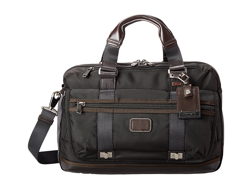 Tumi - Alpha Bravo - Pinckney Flap Brief (Hickory) Briefcase Bags