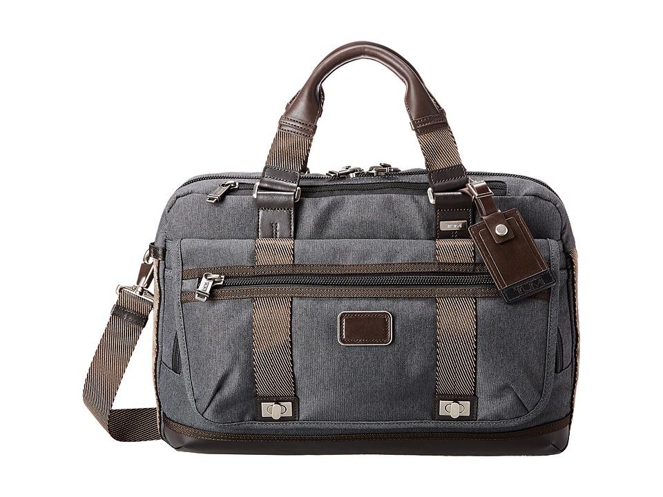 Tumi - Alpha Bravo - Pinckney Flap Brief (Anthracite) Briefcase Bags