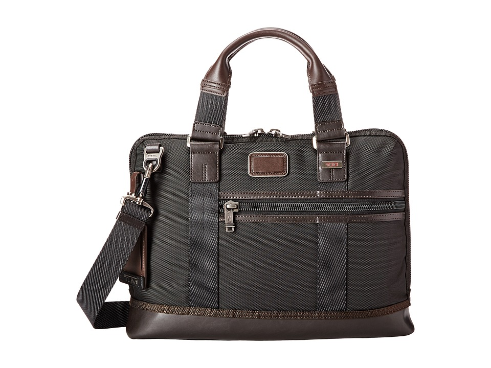 Tumi - Alpha Bravo - Earle Compact Brief (Hickory) Briefcase Bags