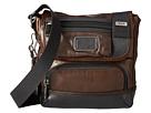 Tumi Alpha Bravo Barstow Leather Crossbody (Dark Brown)
