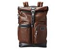 Tumi Alpha Bravo Luke Leather Roll-Top Backpack (Dark Brown)