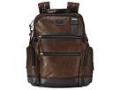 Tumi Alpha Bravo Knox Leather Backpack (Dark Brown)