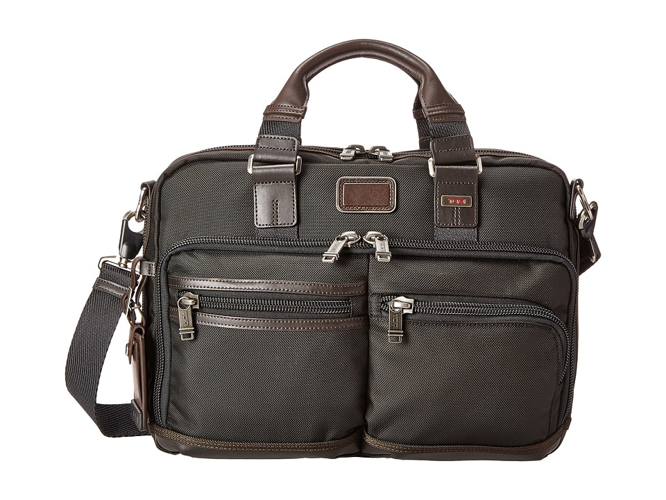 Tumi - Alpha Bravo - Andersen Slim Commuter Brief (Hickory) Briefcase Bags