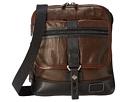 Tumi Alpha Bravo Annapolis Leather Zip Flap (Dark Brown)