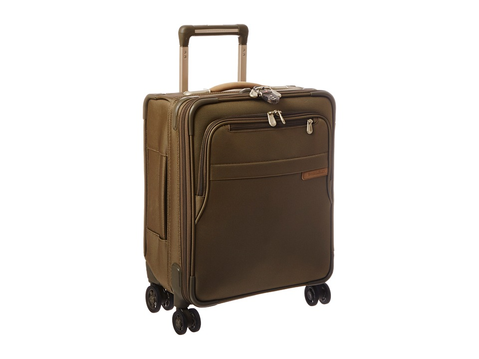 Briggs amp Riley Baseline Commuter Expandable Spinner Olive Luggage