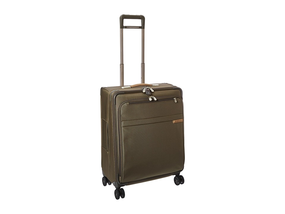 Briggs & Riley - Baseline Medium Expandable Spinner (Olive) Luggage