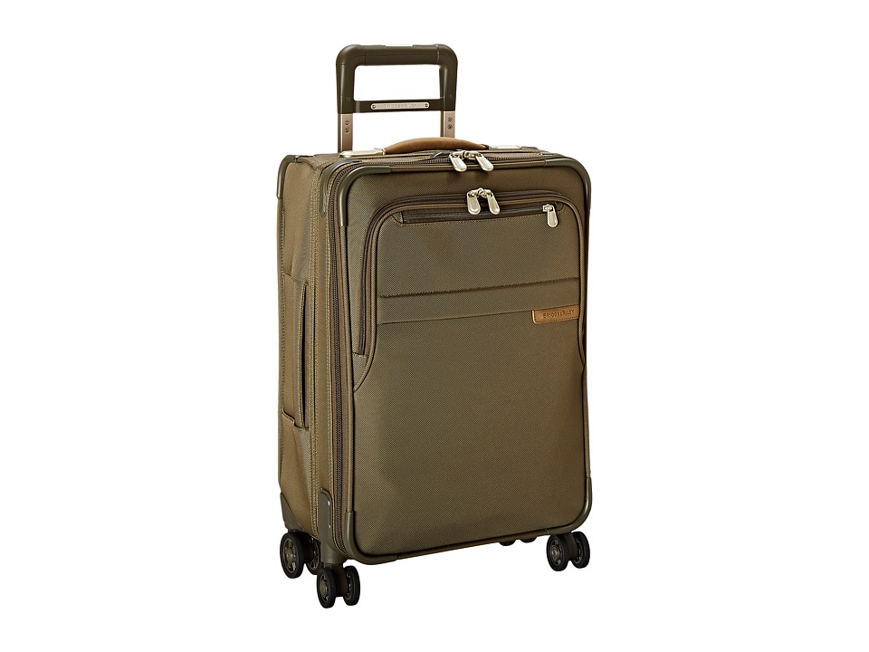 Briggs & Riley - Baseline Domestic Carry-On Expandable Spinner (Olive) Carry on Luggage